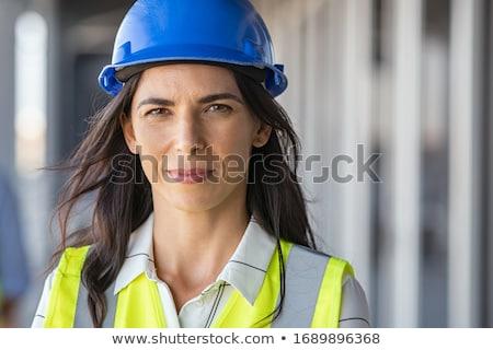 femme · d'affaires · travailleur · de · la · construction · gestes · silence · écouter · affaires - photo stock © vladacanon