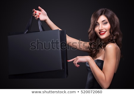 Black Friday Sale People with Bags and Presents Stock photo © robuart