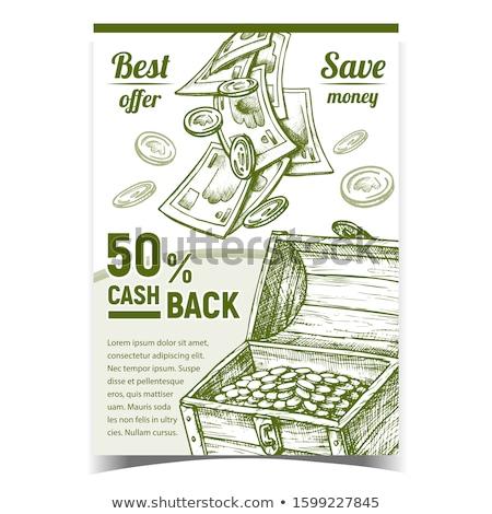 Numerário de volta comercial publicidade cartaz vetor Foto stock © pikepicture