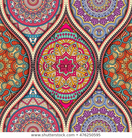 abstract mandala ornament pattern element design with paper cut style for Ramadan Kareem islamic gre Stock photo © taufik_al_amin