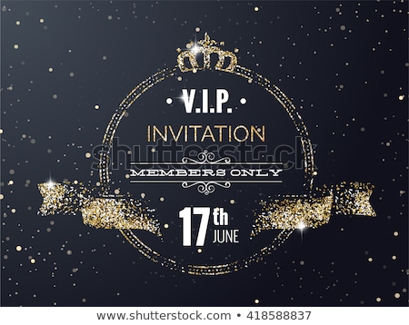 Vip Invitation for Members Only, Golden Frame Stock photo © robuart