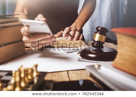 Kantoor werkplek jonge advocaat wetgeving Stockfoto © snowing