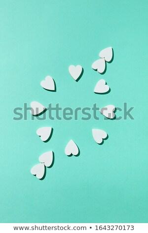 Quadro gesso feito à mão corações congratulação Foto stock © artjazz