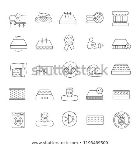 Mattress Memory Foam Icon Outline Illustration Stock photo © pikepicture