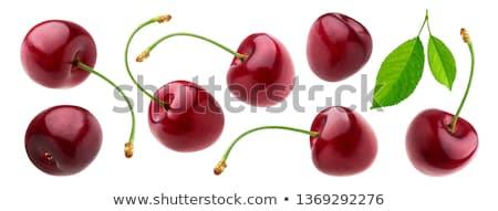 sweet cherries isolated on white stock photo © inxti