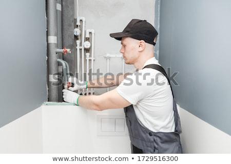 Pipe fitter plumber Stock photo © rcarner