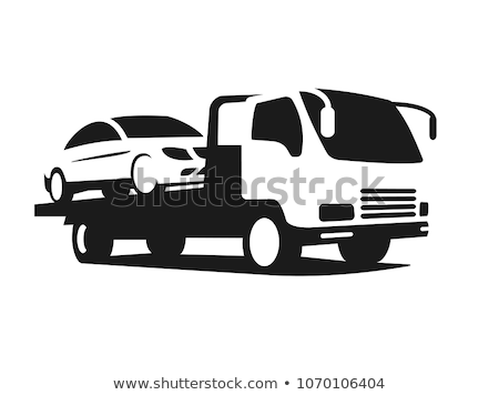 Tow Car Truck Icon Vector Outline Illustration Stock photo © pikepicture
