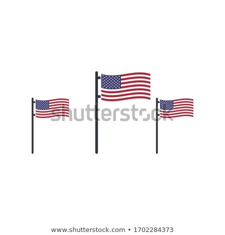 üç ABD bayraklar bayrak kutlama Stok fotoğraf © kyryloff