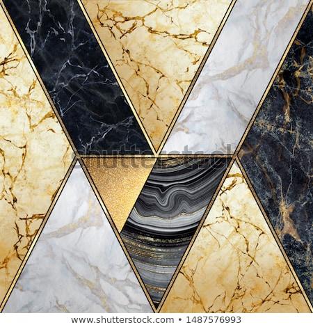 Art deco fekete arany mértani stílus minta Stock fotó © yopixart