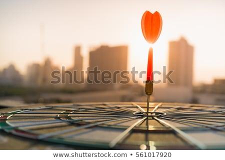 Rosso Dart target centro successo uno Foto d'archivio © make