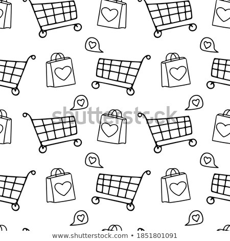 sale label on shopping paper bag in hands heart stock photo © tungphoto