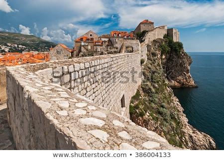 Дубровник старые город стены сумерки Хорватия Сток-фото © rognar