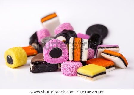 Lukrecja kolorowy pomarańczowy candy Zdjęcia stock © aladin66