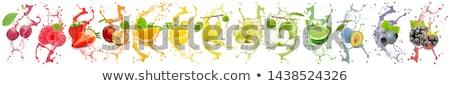 Rood · glanzend · knop · geïsoleerd · witte - stockfoto © cidepix