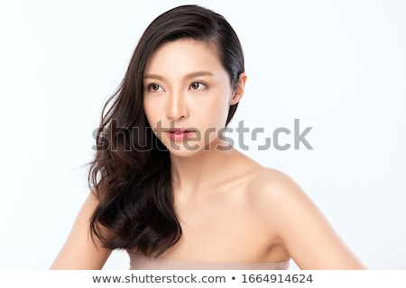 Isolated portrait of a beautiful female stock photo © Anna_Om