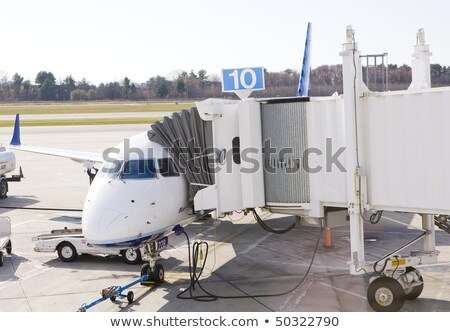 airport in portland maine usa stock photo © phbcz