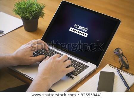 Foto stock: Trancado · foto · tiro · computador · comunicação