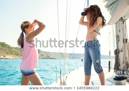 Two teenagers sailing Stock photo © photography33