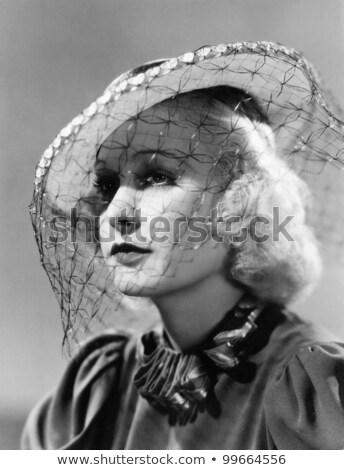 クローズアップ 肖像 美しい 若い女性 着用 ベール ストックフォト © HASLOO