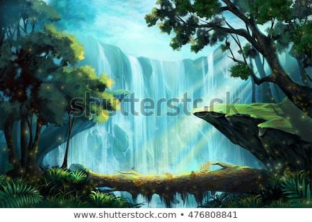 Mysterious Waterfall Stock photo © Alvinge