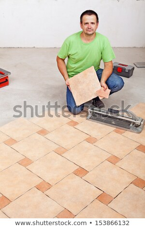 handyman showing a tile cutter Stock photo © photography33