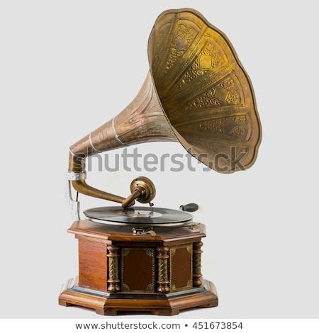 古い レコードプレーヤー ビニール レコード 音楽 表 ストックフォト © sibrikov