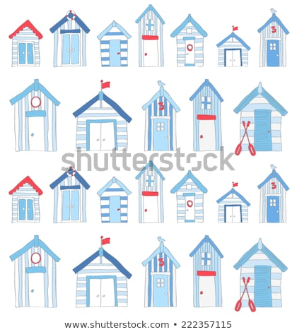 wooden beach huts stock photo © ivonnewierink