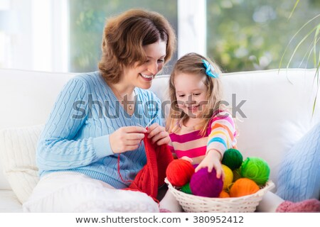 mother and daughter knitting stock photo © photography33