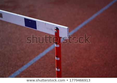 Foto stock: Hurdle On The Runway