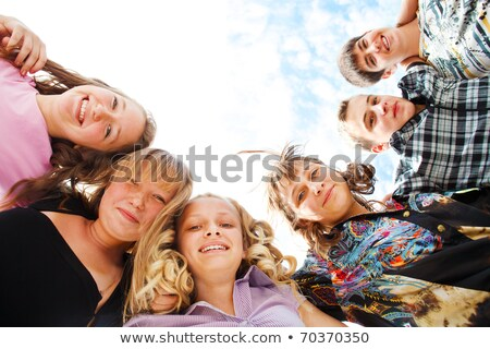 Teens gathered outside school Stock photo © photography33