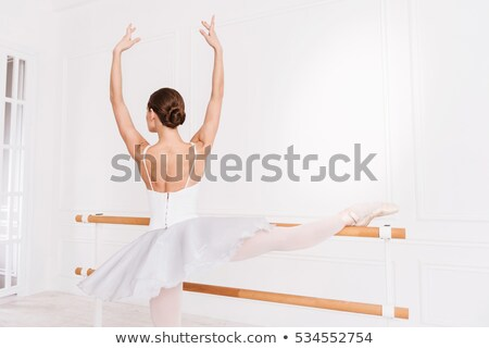 danser · poseren · zoals · ballerina · moderne · stijl · vrouw - stockfoto © feedough