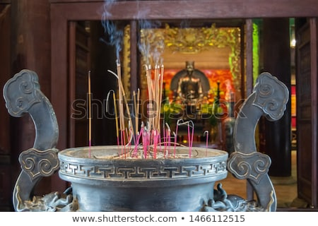 Incense or joss sticks burning in jars Stock photo © bbbar