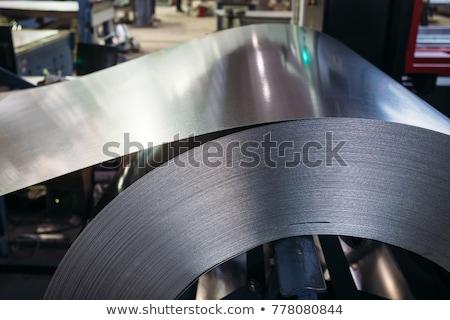Metal · levha · galvanize · katlanmış · inşaat · duvar - stok fotoğraf © magann