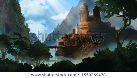 Old castle, surrounded by romantic gardens. Stock photo © justinb