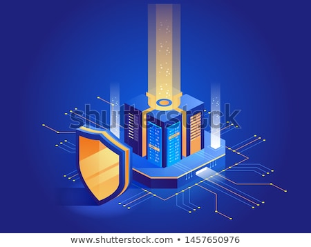 Shield  Internet Protection antivirus laptop Stock photo © fenton