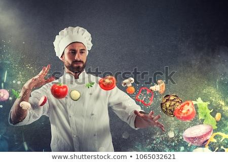 Innovador chef alimentos pelo restaurante sombrero Foto stock © photography33