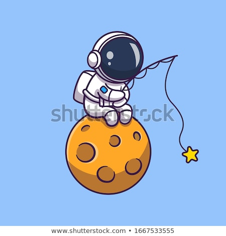 Cartoon astronaute heureux technologie science Photo stock © blamb