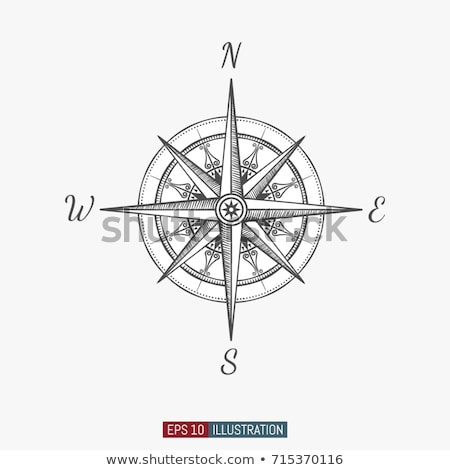 Vintage Compass Foto stock © Navalnyi
