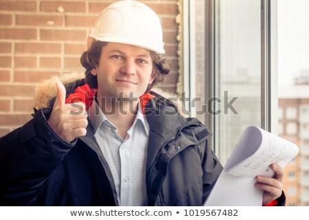 Stolarz zatwierdzenie szczęśliwy tle podpisania pracownika Zdjęcia stock © photography33