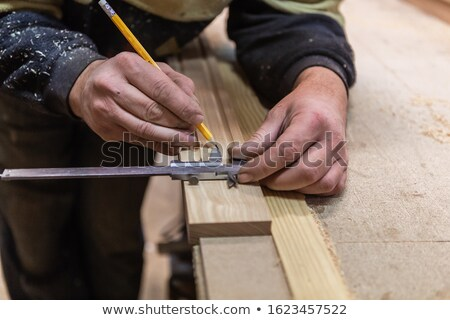carpenter at work sharpening timber Stock photo © photography33