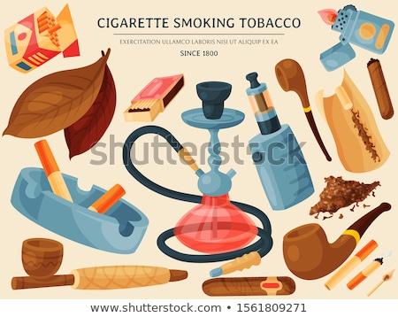 Küllük boru beyaz duman puro ilaç Stok fotoğraf © saicle
