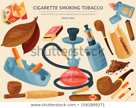 ashtray and pipe stock photo © saicle