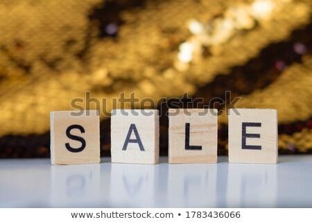 autumn offer in golden cubes stock photo © marinini