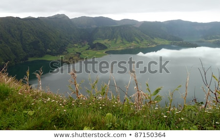 lakeside settlement at the Azores Stock photo © prill