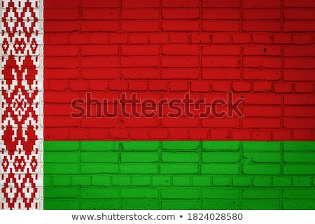 flag of belarus on brick wall stock photo © creisinger