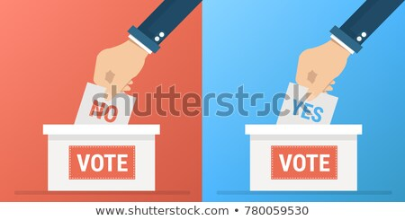 yes or no vote poll ballot box Stock photo © experimental