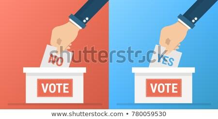 sí · no · votación · placa · botón · turco - foto stock © experimental