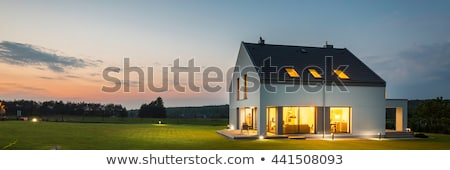 New Home House Exterior View Backyard Stock photo © cr8tivguy