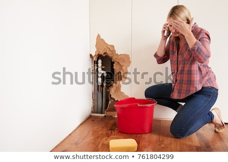 woman holding up water pipes stock photo © photography33