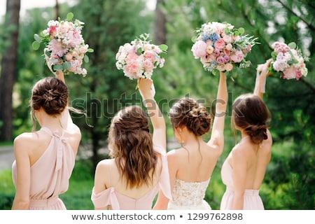 Сток-фото: красивой · довольно · невеста · роскошный · свадьба · современных